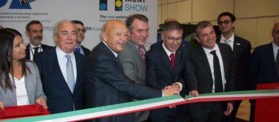 Taglio del nastro Enada Rimini e Rimini Amusement Show 2019