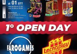Dal 29 settembre all'1 Ottobre Faro Games & Tecnoplay invitano tutti i clienti allo showroom,